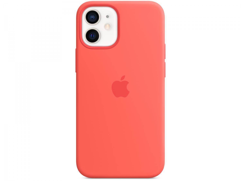 Capa de Silicone com MagSafe Rosa Cítrico - para iPhone 12 Mini Original
