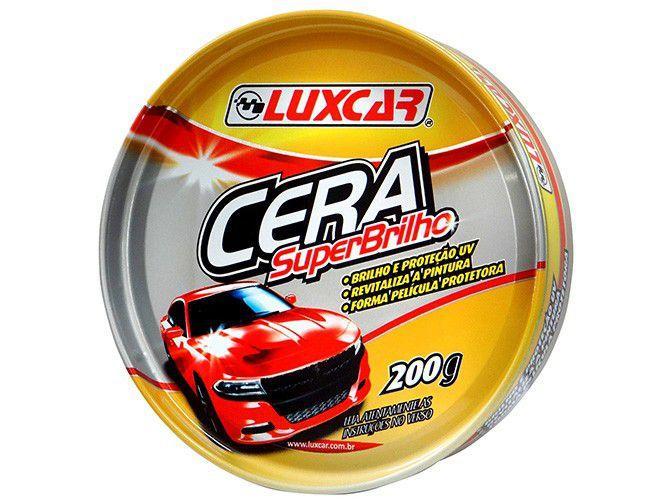 Cera em Pasta Automotiva de Carnaúba Luxcar - SuperBrilho 200g