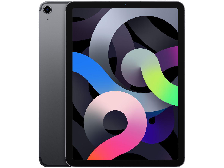 """iPad Air Tela 10,9"""" 4ª Geração Apple - Wi-Fi + Cellular 64GB Cinza-espacial"""