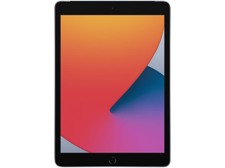 """iPad Tela 10,2"""" 8ª Geração Apple Wi-Fi + Cellular - 128GB Cinza-espacial"""