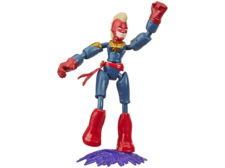 Boneco Capitã Marvel Vingadores Bend and Flex - 22,8cm com Acessórios Hasbro