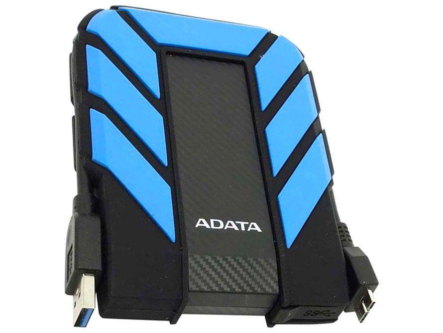 HD Externo 1TB Adata À Prova dágua - AHD710P-1TU31-CBL USB 3.1