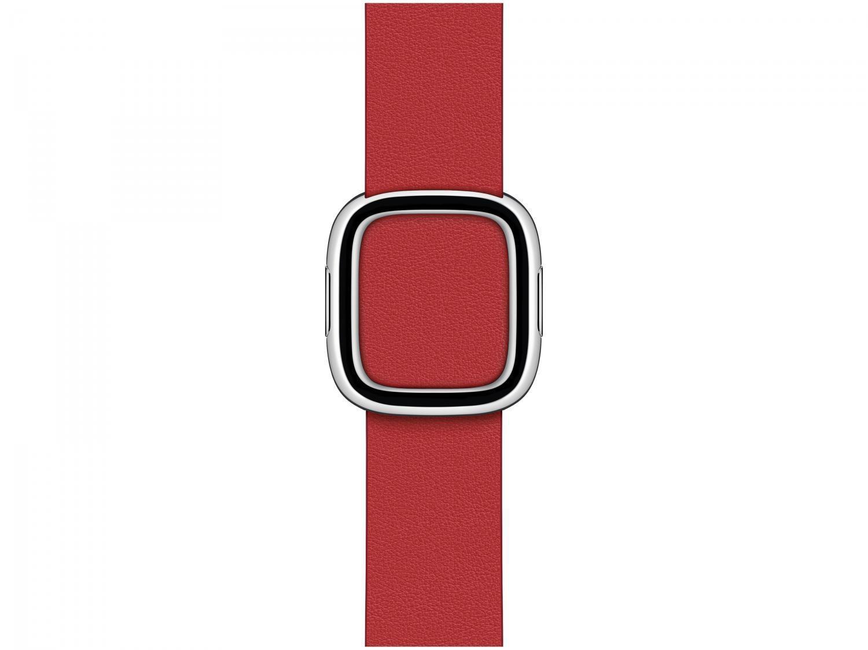 Pulseira Apple Watch Fecho Moderno Couro 40mm - Escarlate Original