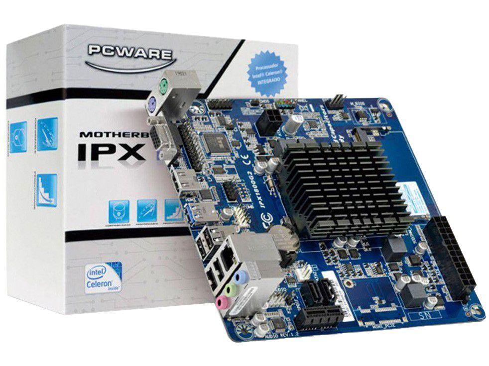 Placa Mãe PCWare IPX1800G2 Intel LGA 1151 - DDR3 Mini-ITX com Processador