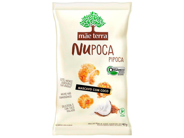 Pipoca Doce Mascavo com Coco Orgânica Mãe Terra - NuPoca 40g