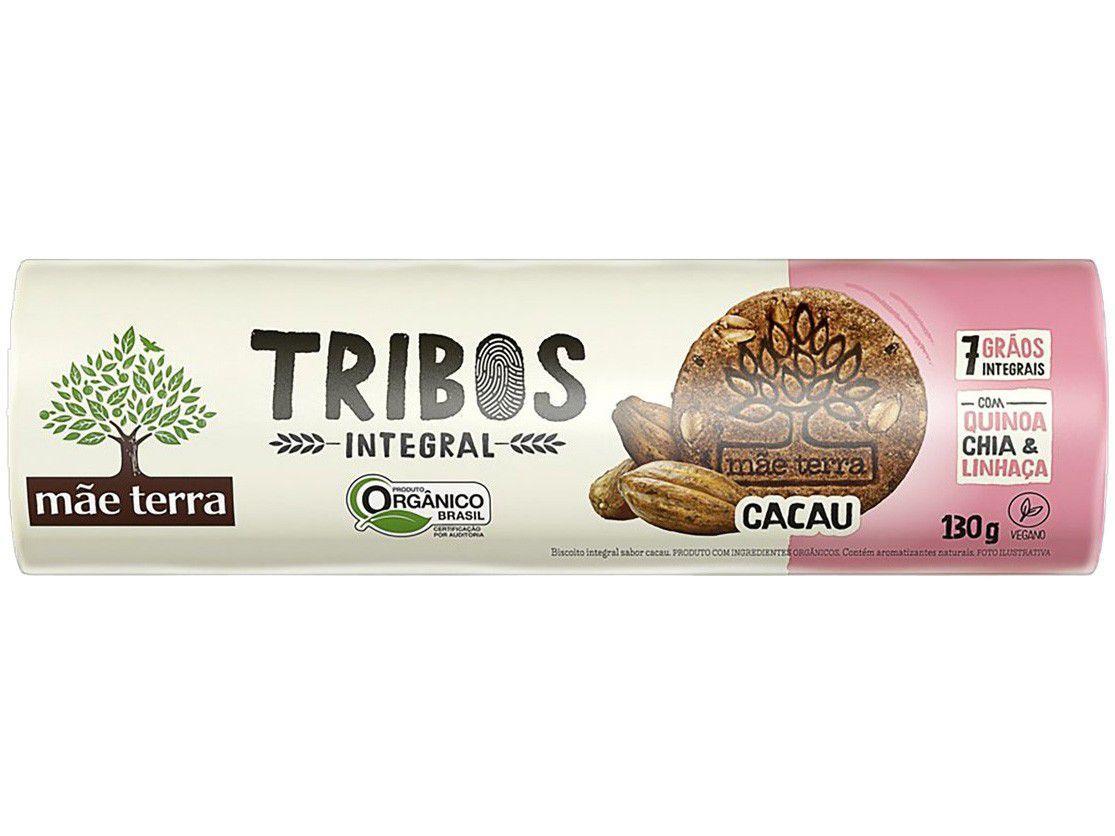 Biscoito Cacau Integral Vegano Tribos Mãe Terra - 130g
