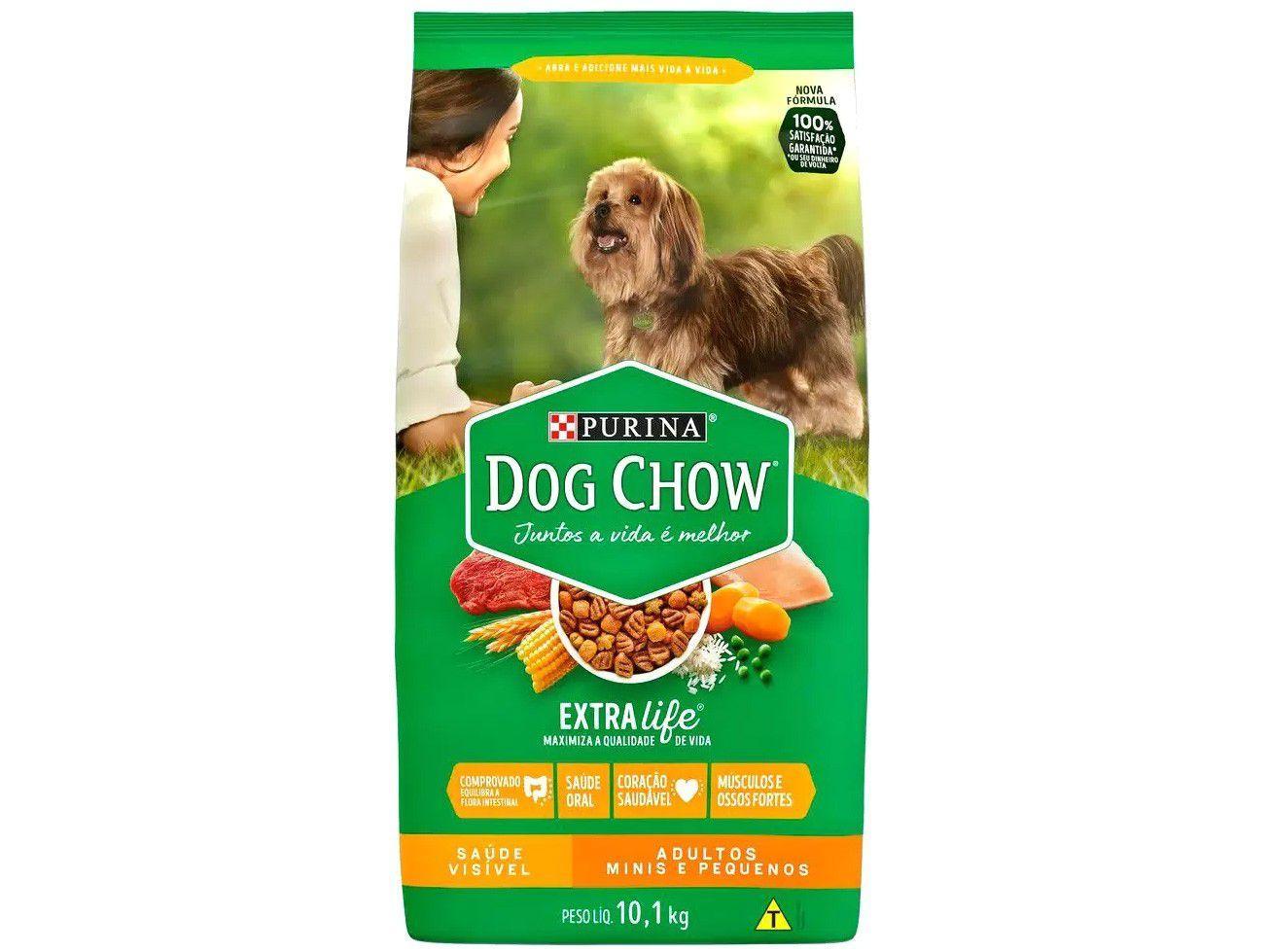 Ração para Cachorro Dog Chow Premium ExtraLife - Saúde Visível Adulto 10,1kg