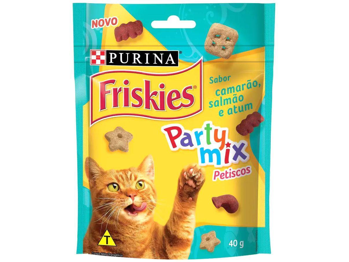 Petisco para Gato Adulto Friskies Party Mix - Camarão Salmão e Atum 40g