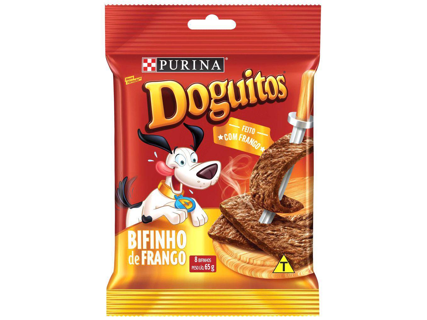 Petisco para Cachorro Adulto Doguitos - Bifinho de Frango 65g