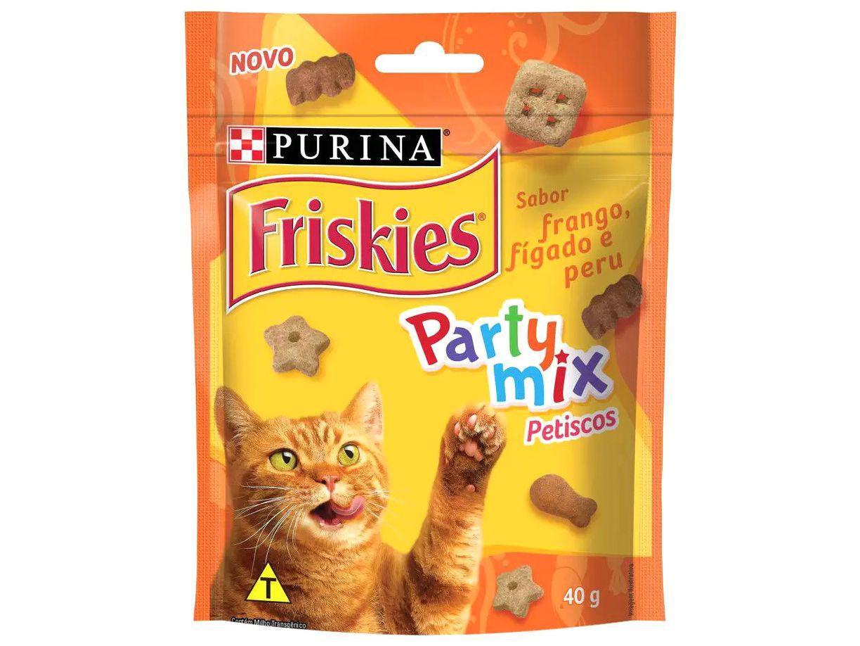 Petisco para Gato Adulto Friskies Party Mix - Frango, Fígado e Peru 40g