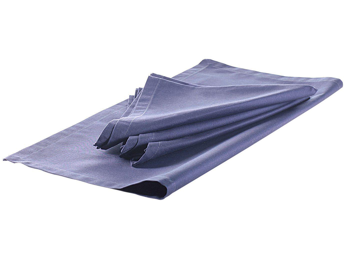 Guardanapo de Tecido Azul 100% Algodão - 45x45cm Buddemeyer Sicily 4 Peças