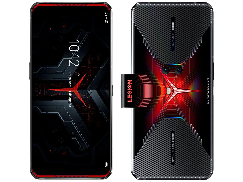 "Smartphone Lenovo Legion Phone Duel 256GB - Vengeance Red 5G 12GB RAM 6,65"" Câm. Dupla"