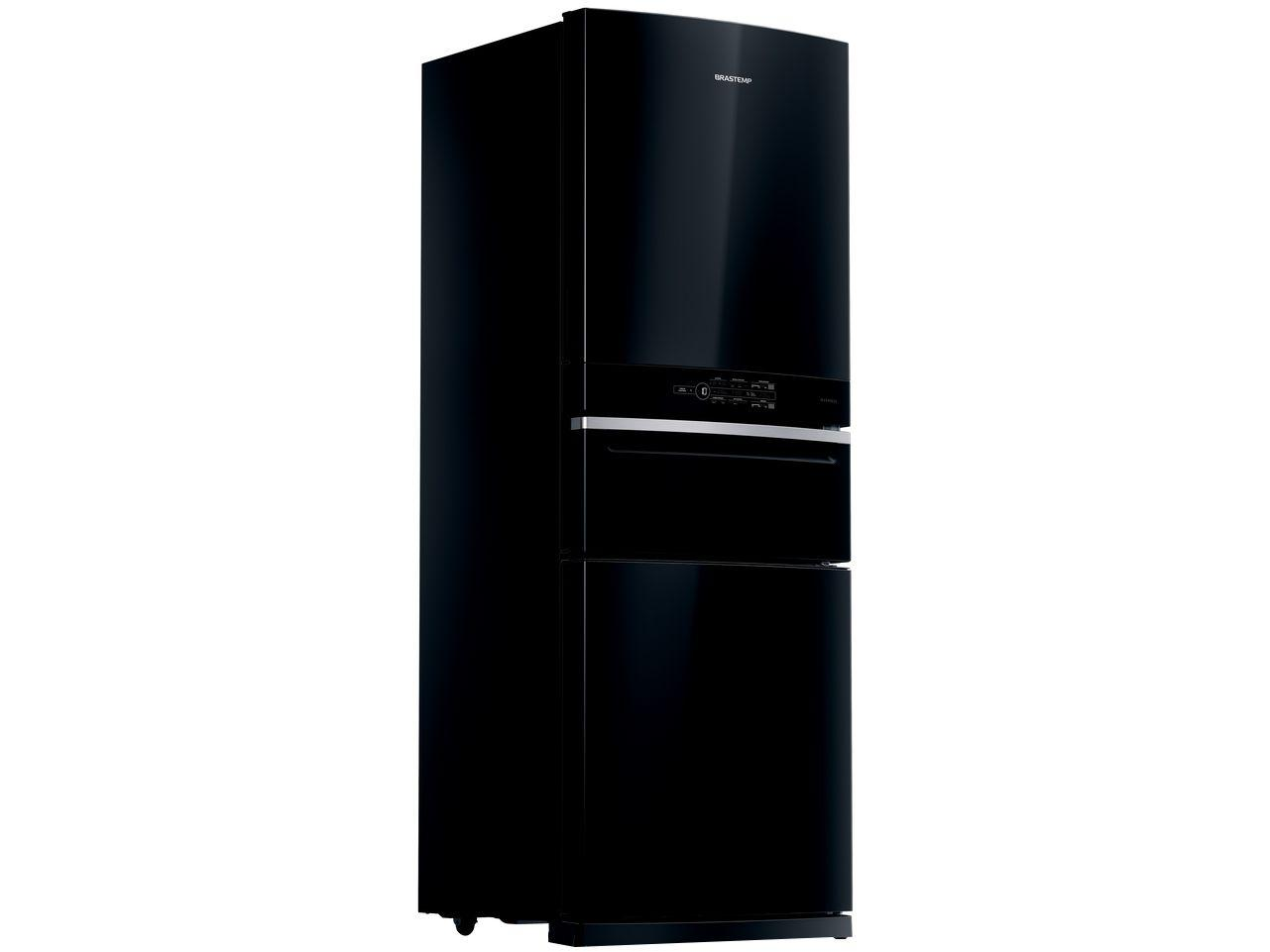Geladeira/Refrigerador Brastemp Frost Free Inverse - Preta 419L BRY59BE