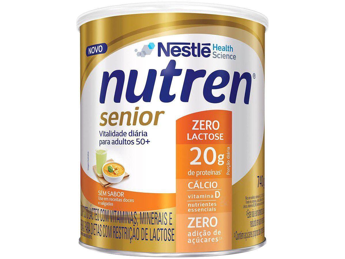 Suplemento Alimentar Adulto Nutren Senior - Sem Sabor Zero Açúcar sem Lactose 740g