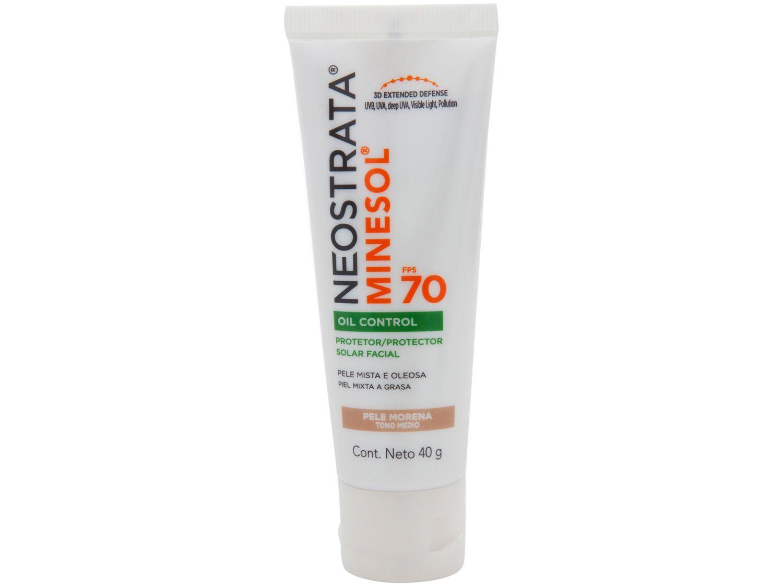 Protetor Solar Facial Neostrata FPS 70 Pele Morena - Oil Control Minesol 40g