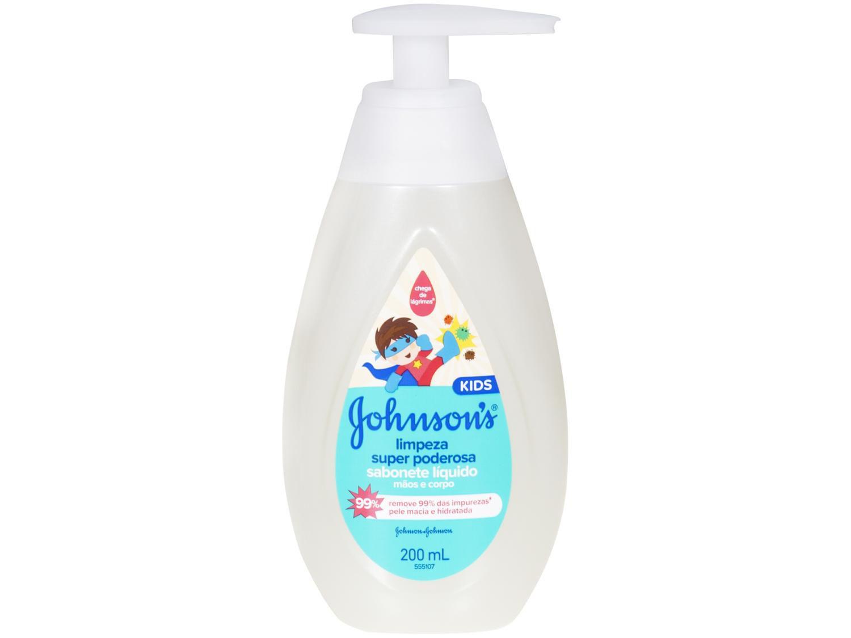Sabonete Líquido Infantil Johnsons Kids - Limpeza Super Poderosa 200ml