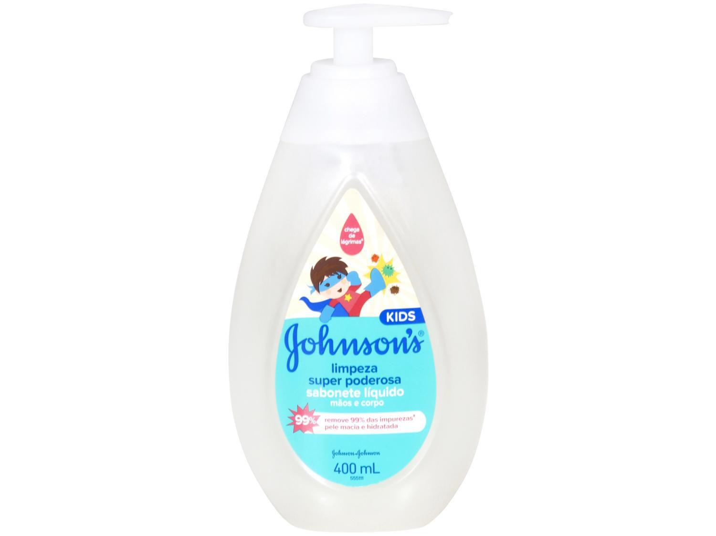 Sabonete Líquido Infantil Johnsons Kids - Limpeza Super Poderosa 400ml