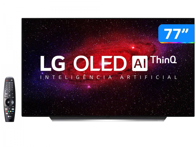 "Smart TV Ultra HD 4K OLED IPS 77"" LG OLED77CXPSA - Wi-Fi Bluetooth Inteligência Artificial 4 HDMI"