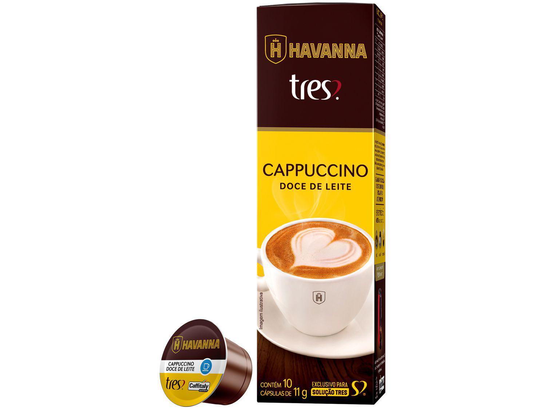 Cápsula Cappuccino Doce de Leite Havanna TRES - 3 Corações 10 Unidades