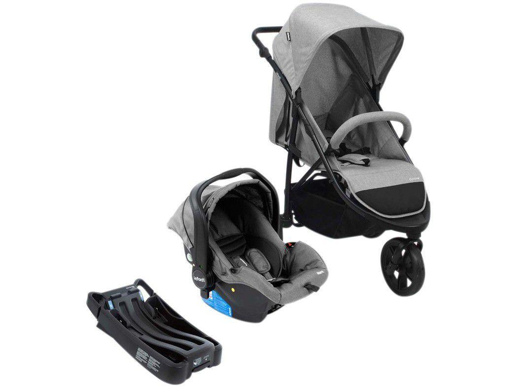 Carrinho de Bebê com Bebê Conforto Infanti - Travel System Collina Trio 3 Rodas 0 a 15kg