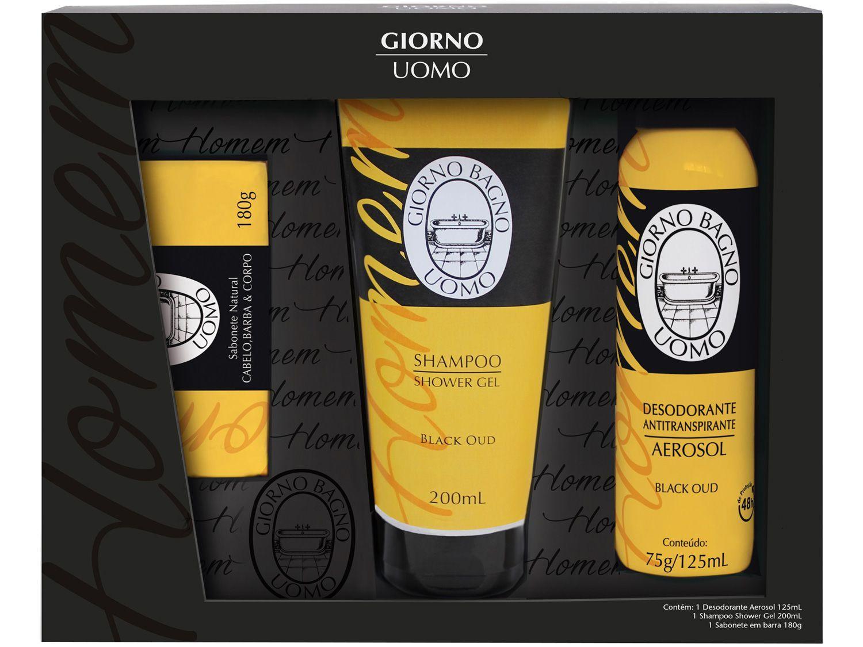 Kit Shampoo Sabonete e Desodorante Giorno Uomo - Black Oud