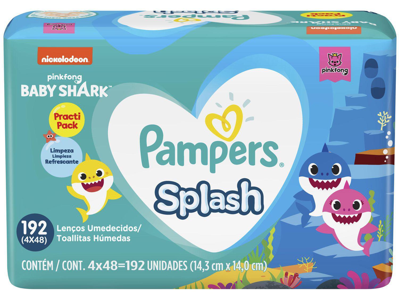 Lenço Umedecido Pampers Splash - 192 Unidades