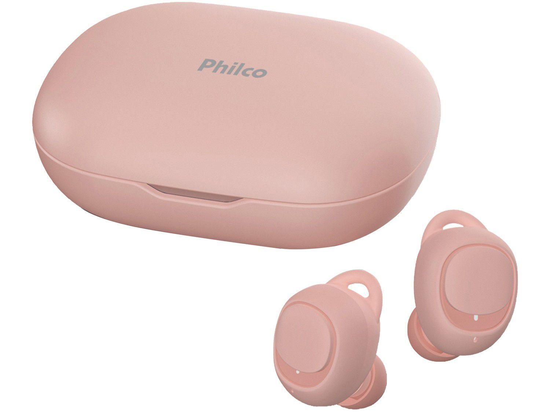 Fone de Ouvido Bluetooth Philco Air Beats PFI96ESR - True Wireless com Microfone Resistente à Água Rosa
