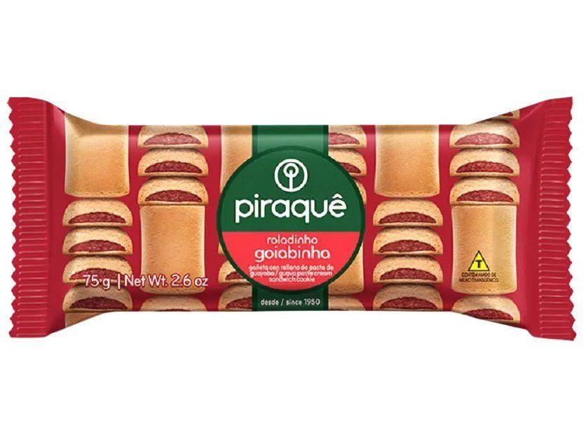 Biscoito Recheado Goiaba Roladinho Goiabinha - Piraquê 75g