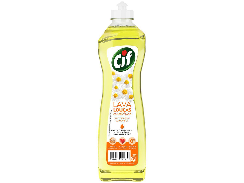 Detergente Líquido Concentrado Lava-Louças Cif - Neutro com Camomila 420g