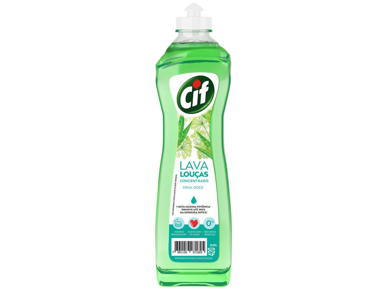 Detergente Líquido Concentrado Lava-Louças Cif - Erva-Doce 420g