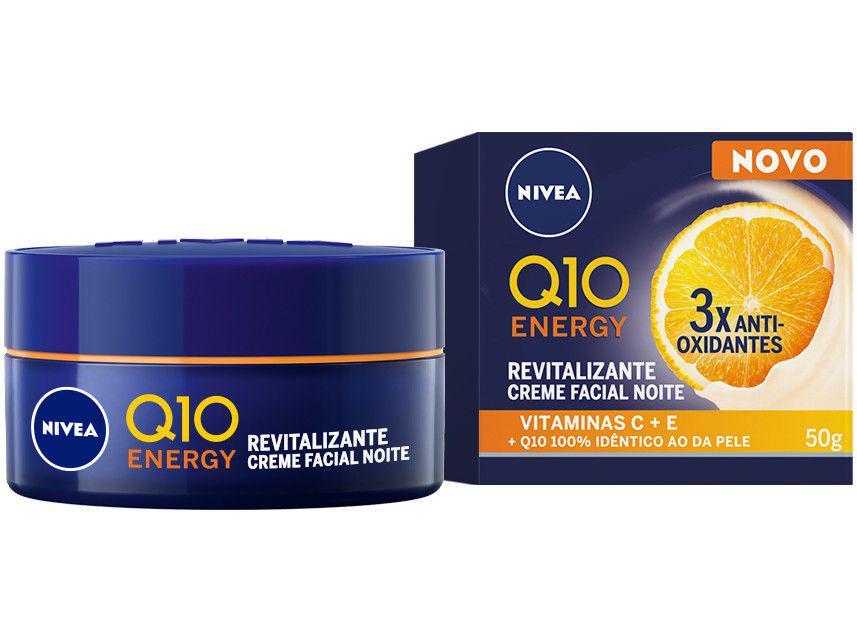 Creme Antissinais Facial Noturno Nivea Q10 Energy - 50g