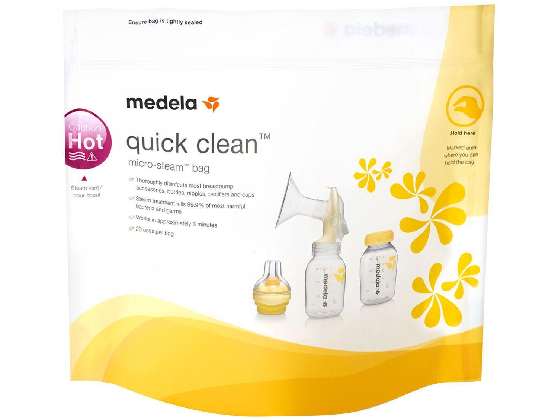 Saco Esterilizador para Micro-ondas Medela - Quick Clean 5 Peças