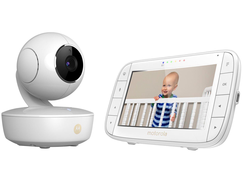 """Babá Eletrônica Motorola MBP36XL Tela 5,0"""" - Câmera Portátil Canções de ninar com Ruído Branco"""