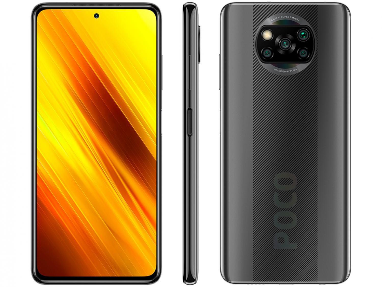 "Smartphone Xiaomi Poco X3 NFC 64GB Cinza Octa-Core - 6GB RAM Tela 6,67"" Câm. Quádrupla + Selfie 20"