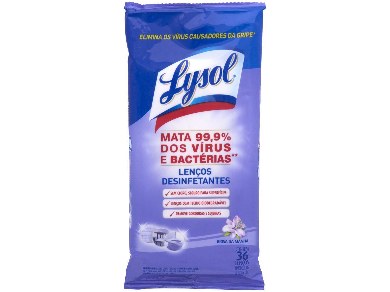 Lenços Desinfetantes Lysol Wipes - Brisa da Manhã 36 Unidades