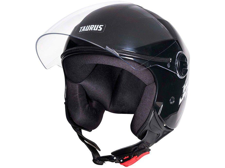 Capacete de Moto Aberto Taurus San Marino - JOY23 Preto Tamanho 56