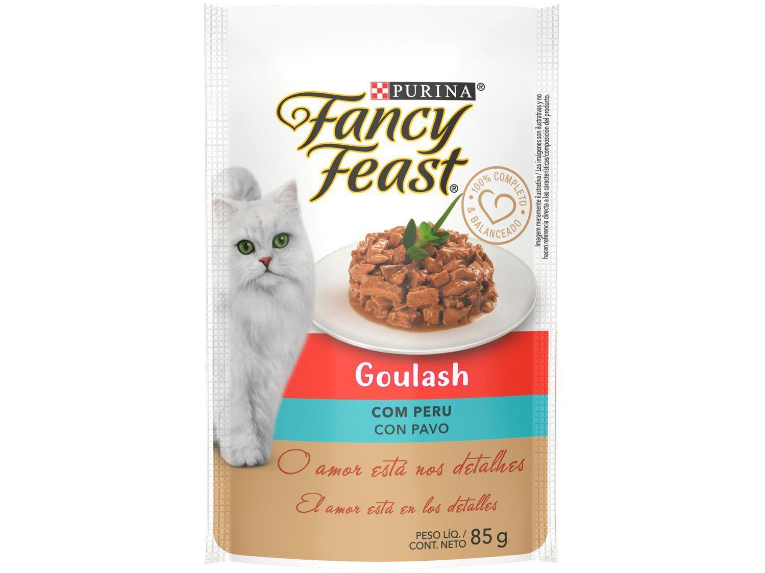 Ração Úmida para Gato Adulto Sachê Fancy Feast - Goulash Peru 85g