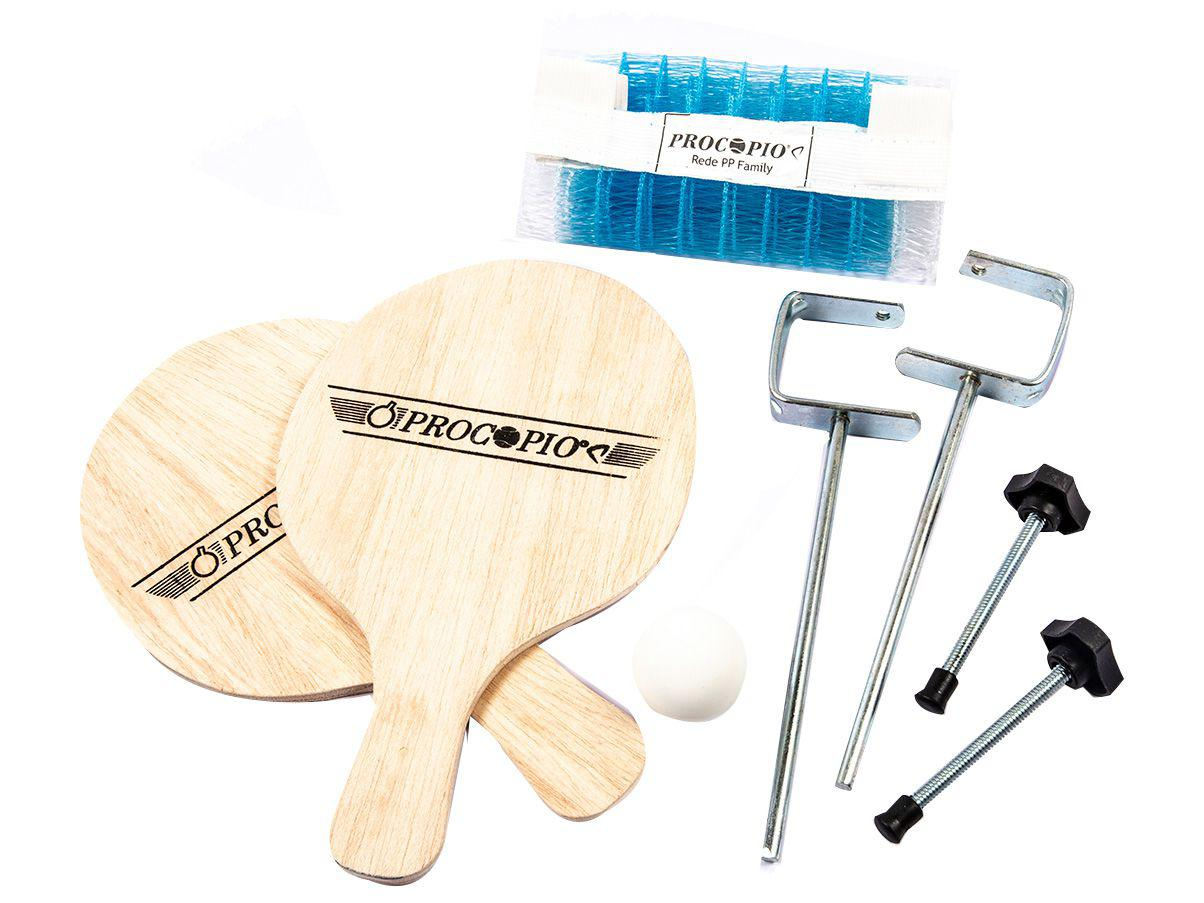 Kit Ping Pong/Tênis de Mesa Procópio 2004 - 6 Peças