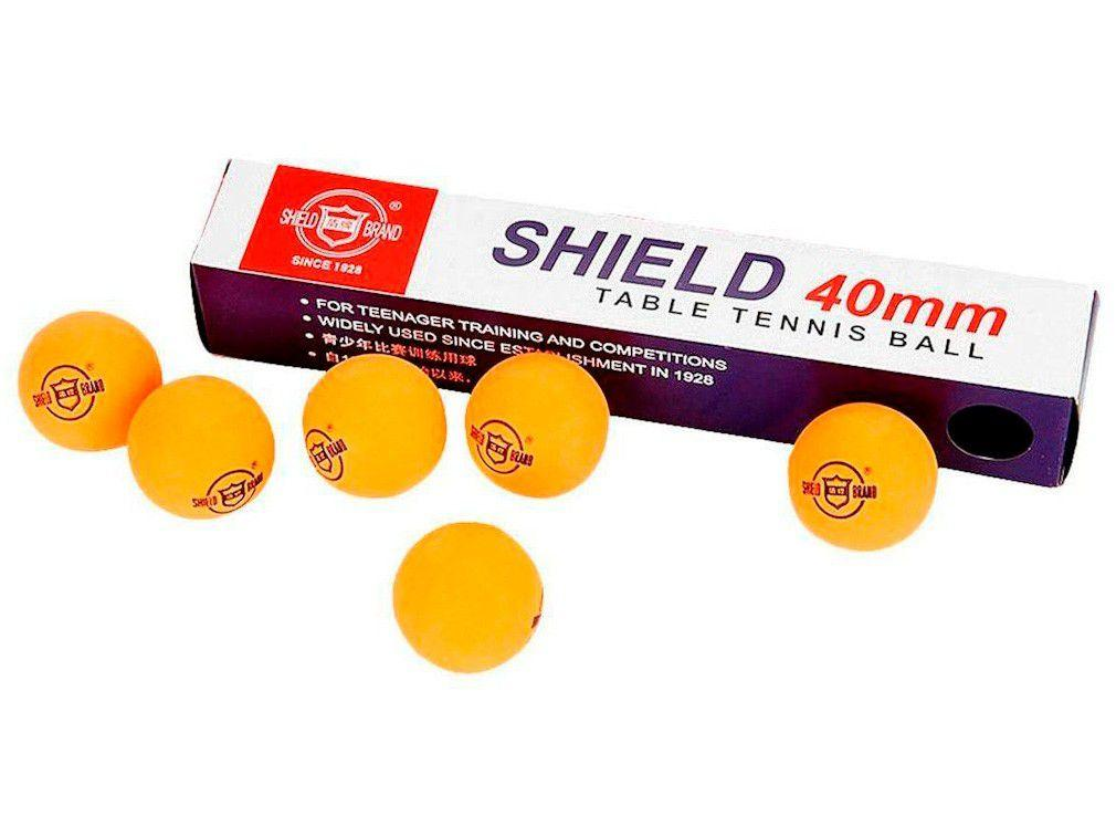 Bola de Ping Pong/Tênis de Mesa Shield 1112 - 6 Unidades