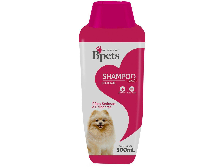 Shampoo Cachorro e Gato Bpets Natural 2 em 1 - 500ml