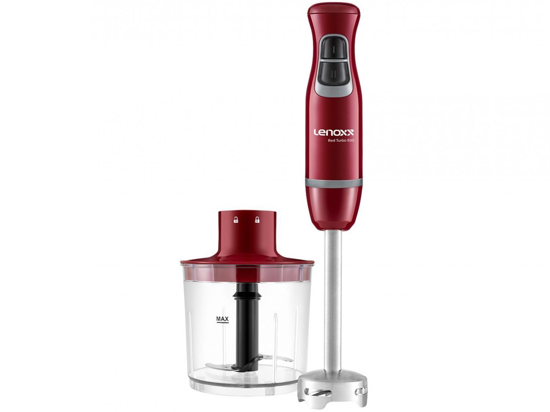Mixer Lenoxx 2 em 1 Vermelho 600W - Red Turbo 600 PMX 405 2 Velocidades