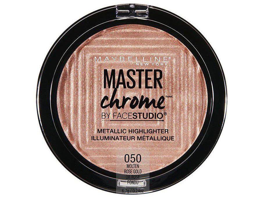 Pó Iluminador Facial Maybelline Rose Gold - Face Studio Master Chrome 6,7g