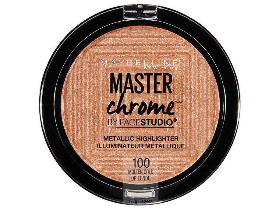 Pó Iluminador Facial Maybelline Gold - Face Studio Master Chrome