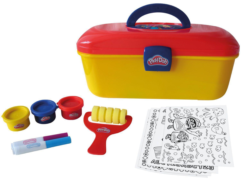 Kit de Pintura Play Doh Maleta Criativa - com Acessórios Fun