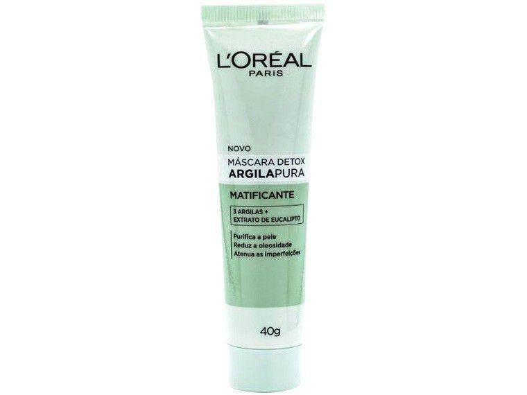 Máscara Facial Loreal Paris - Argila Pura Detox Matificante 40g