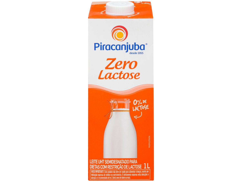 Leite Semidesnatado sem Lactose UHT - Piracanjuba 1L