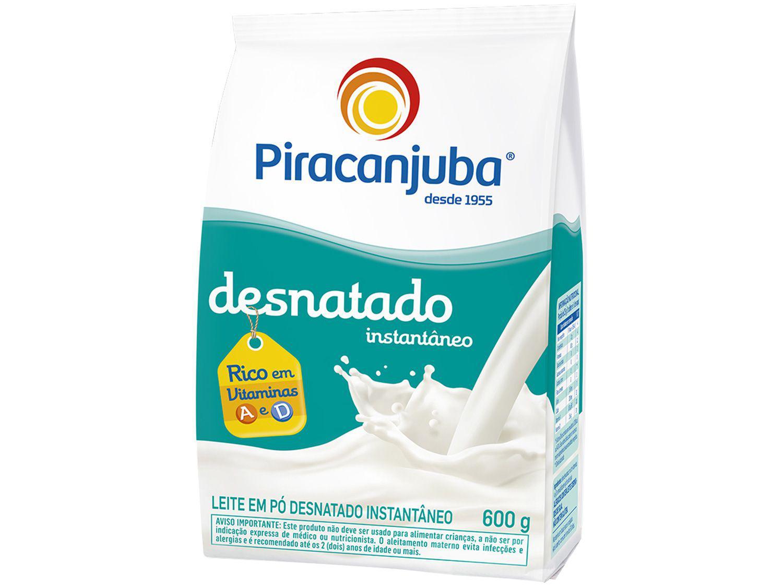 Leite em Pó de Vaca Desnatado Piracanjuba - Instantâneo 600g
