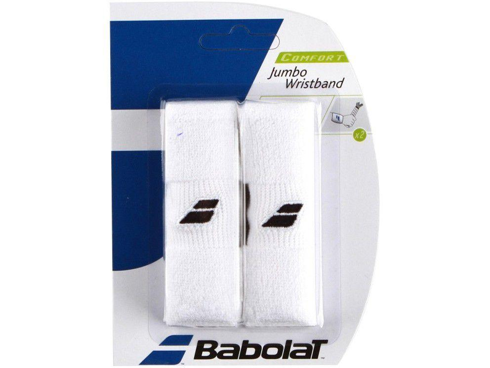 Munhequeira Tênis Babolat Jumbo Branco 1 Par