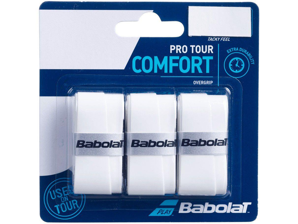 Overgrip Babolat Pro Tour Branco 3 Unidades