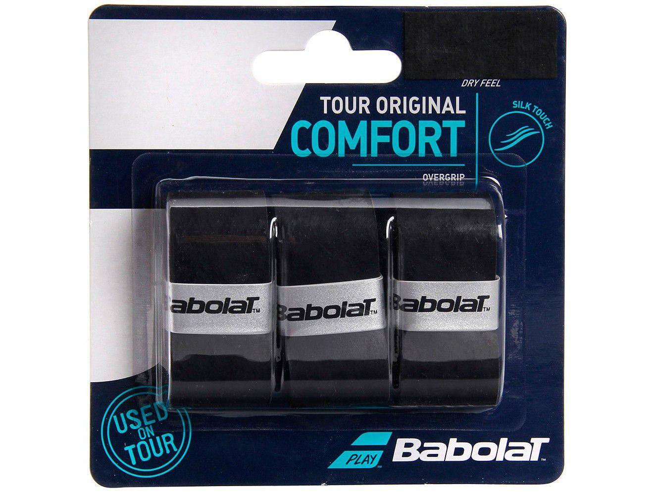 Overgrip Babolat Tour Original Comfort Preto - 3 Unidades
